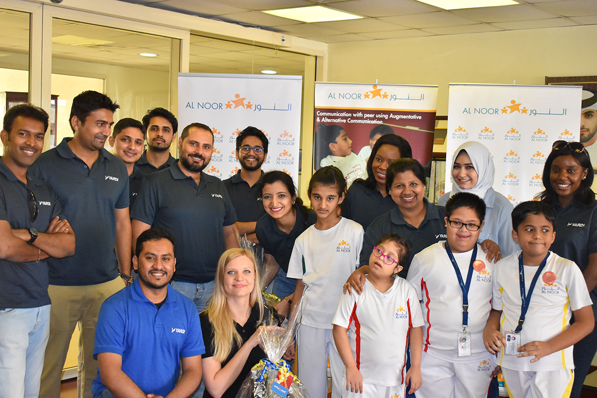 Yardi Dubai Giving Back At Al Noor Training Centre Arabianbusiness