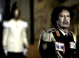 Say what you will, Gaddafi has a keen sense of theatre