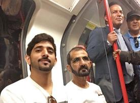 Sheikh Mohammed and Crown Prince take trip on London Underground