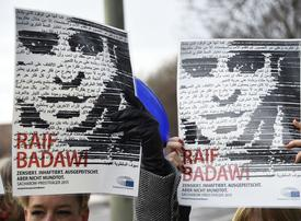 Wife of jailed Saudi blogger told he could be pardoned