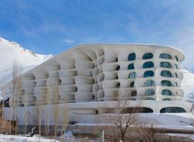 In Photos: Iran ski resort reflects mountain landscape