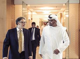 Abu Dhabi's Crown Prince talks coronavirus with billionaire Bill Gates
