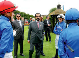 In pictures: Dubai's Sheikh Mohammed attends Newmarket's July festival
