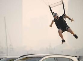 Video: Behind the scenes of 3 world-first Dubai stunts