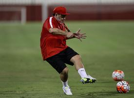 In pictures: Fujairah FC boss Diego Maradona took part in the training session