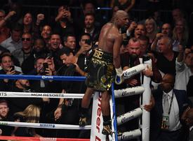 In pictures: Floyd Mayweather stopped UFC champion Conor McGregor in 10th round in Las Vegas