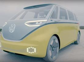 Video: Volkswagen's electric concept bus is far out, man