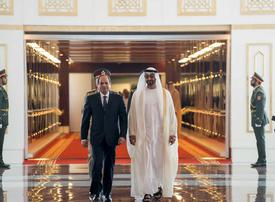 In pictures: Crown Prince of Abu Dhabi and Dubai Ruler meet with Egypt president Sisi