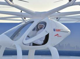In pictures: Dubai tests world's first self-flying taxi near the Jumeirah Beach Park