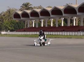 Video: Dubai Police rideable hoverbike