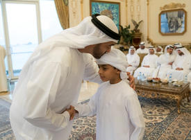 Video: Mohamed bin Zayed receives outstanding children of martyrs