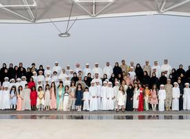 In pictures: Crown Prince of Abu Dhabi receives outstanding children of martyrs