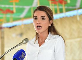 In pictures: Queen Rania of Jordan visits Rohingya refugees camp in Bangladesh