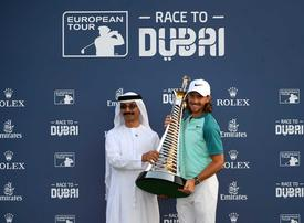 In pictures: Tommy Fleetwood wins Race to Dubai after a tense battle with Justin Rose