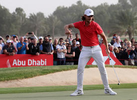 In pictures: Tommy Fleetwood wins Abu Dhabi title