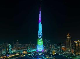 Video: How much does it cost to put up an advertisement on the world's tallest building?