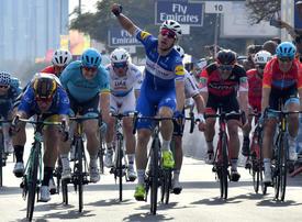 Birthday boy Viviani wins Tour of Dubai sprint.