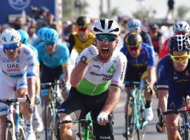 British sprint king Cavendish wins Dubai Tour third stage