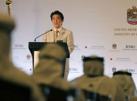 Japan's Abe in the UAE to boost political and economic ties