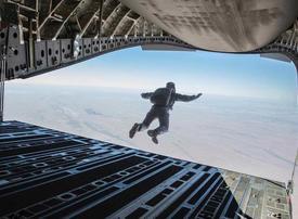 Tom Cruise spent three weeks in Abu Dhabi rehearsing for Halo jump