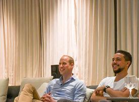 Prince William watches England thrash Panama with Jordanian Crown Prince