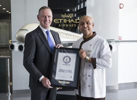 Etihad chef breaks world record after serving Everest meal