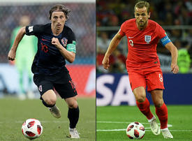 England and Croatia head-to-head battle for place in the 2018 FIFA World Cup final - in pictures
