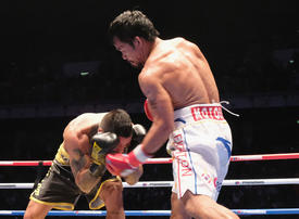 Manny Pacquiao rolls back years to knock out Matthysse