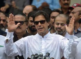 Former cricket star Imran Khan nears majority in disputed Pakistan vote
