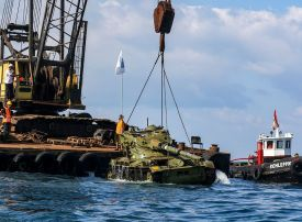Lebanon sinks old tanks to create underwater dive 'park'