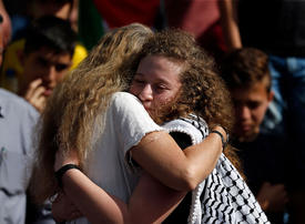 Gallery: Crowds greet Palestinian teen activist Ahed Tamimi after freed from jail