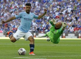 Aguero double helps Man City claim first silverware of the season