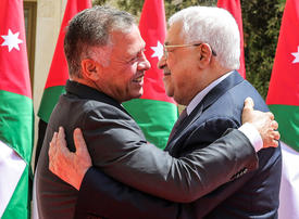 In pictures: Palestinian President Mahmoud Abbas meets with King Abdullah II of Jordan at Husseiniya Palace in Amman