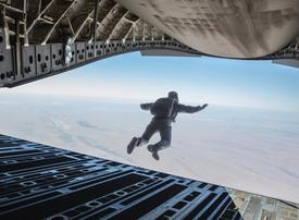 Video: Tom Cruise and Christopher McQuarrie on Abu Dhabi HALO jump for Mission Impossible
