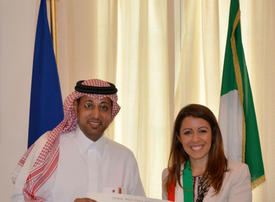 Khalid Aldarwish honored with the distinction of Knight of the Order of the Star of Italy