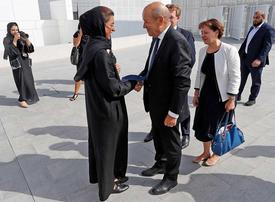 Gallery: France's foreign minister Jean-Yves Le Drian visits Louvre Abu Dhabi
