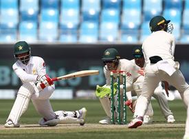 Pakistan openers make Australia toil in first Test in Dubai