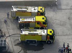 Firefighters tackle fire at Dubai construction site