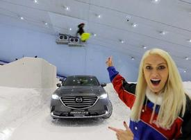 Supercar Blondie pulls off Ski Dubai stunt