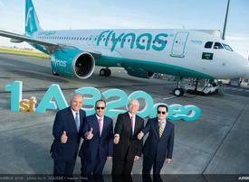 Saudi's flynas takes delivery of first A320neo