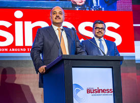 Winners stage: Arabian Business Achievement Awards 2018 - Prasanth and Promoth Manghat