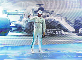 In pictures: Mercedes driver Lewis Hamilton ends season with Abu Dhabi F1 Grand Prix win