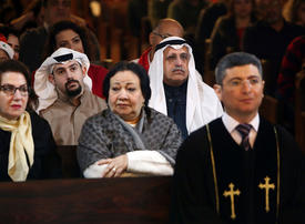 In pictures: Christian worshippers attend Christmas mass across the Middle East