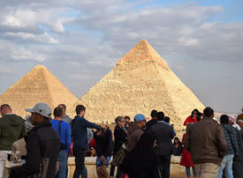 In pictures: Tourists return to Egypt's pyramids after Giza bus attack