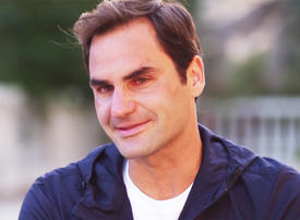Video: Question about Roger Federer's past brings him to tears