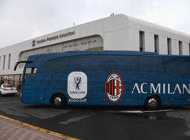 In pictures: Italian football club AC Milan arrive in Jeddah ahead of the Super Cup clash