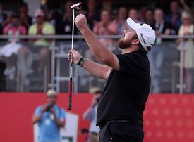 In pictures: Irishman Shane Lowry wins Abu Dhabi title
