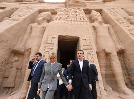In pictures: Macron visits ancient Abu Simbel temple in Egypt