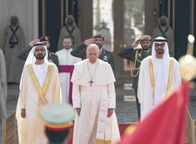 UAE leaders receive Pope Francis as religions come together