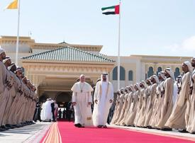 Pope Francis departs, with message for UAE President